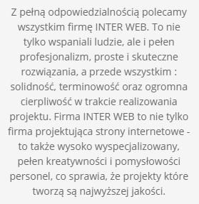 opinia inter web